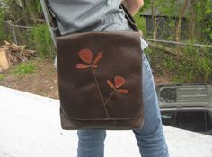 Brown Leather messenger bag by thayerbagco on Etsy, $150.00