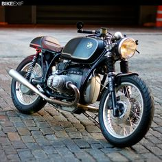 "Strong words from Bike Exif ""One of the best BMW cafe racers we've ever seen: Bill Costello's 1981 R100RT."""