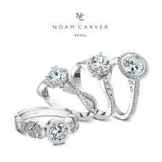 Floral, modern, halo or solitaire - there is a Noam Carver engagement ring to satisfy even the most exquisite tastes! See more here: http://noamcarver.com/collections.asp