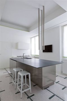 #architecture #design #interior design #kitchens #style #white - Boffi kitchens