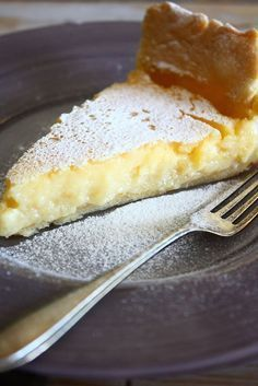 Italian lemon tart with crispy crust - Baking Recipes, Cake Recipes, Dessert Recipes, Pie Cake, No Bake Cake, Desserts Français, Sweet Bakery, Limoncello, Sweet Pie