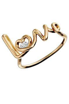 Solange Azagury-Partridge red gold ring with diamond