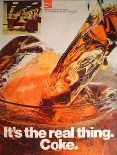 "1970 Ad Coca-Cola ~~ ""Coke, It's the real thing"""