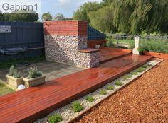 gabion privacy garden screen and decking http://www.gabion1.com