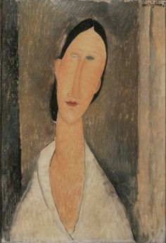 Amedeo Modigliani, Hanka Zborowska, 1917, huile sur toile, 55x39 cm (©Collection particulière).