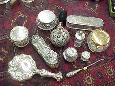 Image detail for -and sterling and glass combination vanity items from the Victorian ...