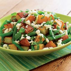 Roasted Potato Salad with Green Beans, Feta & Mint - FineCooking