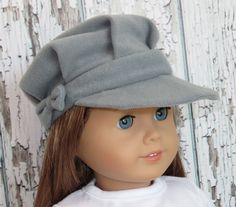 "Trendy 18"" American Girl Doll Clothes from Silly Monkey - Grey Hat with Bow, $5.99 (http://www.silly-monkey.com/products/grey-hat-with-bow.html)"