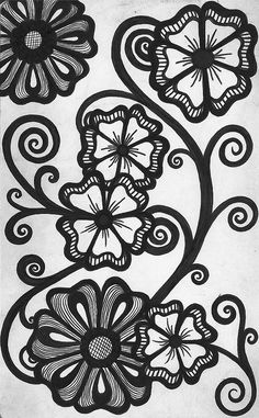 I love Zentangle flowers...they are my favorite doodle.