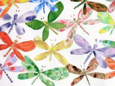 Jubilant Dragonflies by Nancy Edwards - Beautiful!