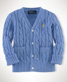 Ralph Lauren Baby Sweater, Baby Boys Classic Cable Cardigan - Kids Baby Boy (0-24 months) - Macy's