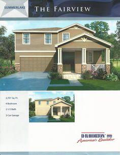 Summerlake Dr Horton Homes Springfield Model In Winter