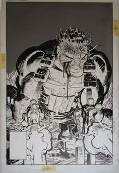 the Punisher by John Romita, Jr., with Inks by Klaus Janson.