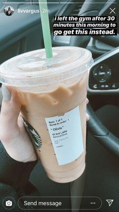 Healthy Starbucks Drinks, Starbucks Secret Menu Drinks, Starbucks Coffee, Yummy Drinks, Healthy Drinks, Yummy Food, Caribou Drinks, Coffee Drinks, Tea Drinks