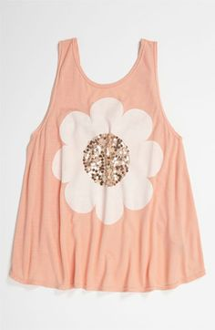 Flowers by Zoe 'Sequin Flower' Top (Big Girls) available at #Nordstrom