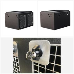 DT Box Dog Crate - DT 1000 About the DT 1000 The DT 1000 Box is a great box for pickup trucks and vans. It comes with a solid divide which gives you two separate large compartments inside the crate. Each of the two compartments fits a large dog such as a large Labrador or two smaller dogs such as two smaller Labradors or Spaniels on either side of the divide. This model also features a tray on top for holding all your dogs travel accessories such as leads and toys. The box is made from a… Large Dogs, Small Dogs, Dog Travel Accessories, Dog Crates, Stainless Steel Doors, Dog Carrier, Labradors, Truck Bed, Commercial Vehicle