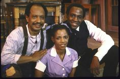 Sherman Hemsley, Melba Moore and Robert Guillaume in a scene from the musical Purlie