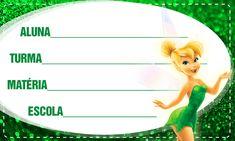Etiqueta Escolar Personalizada Tinker Bell Sininho