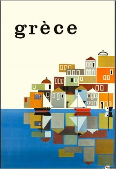 Travel photo tips Festival of Britain - British Railways Greece by Freddie Carabott Vintage Travel Poster the comet / bpl ar. Old Posters, Retro Poster, Art Deco Posters, Poster S, Vintage Travel Posters, Poster Prints, Beach Posters, Illustrations Vintage, Illustrations Posters