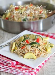 Vegetable Party Spaghetti 1t