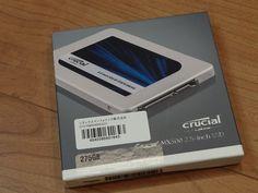 メインPC用ドライブ準備の為  Crucial [ Micron製 ] 内蔵SSD 2.5インチ MX300 275GB ( 3D TLC NAND / SATA 6Gbps)を注文し、早々にAMAZONさんから届く  Ooe-office,atelier 2017/03/18