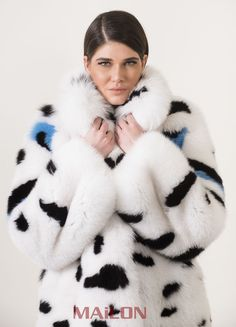NEW BLUE SHADOW SAGA PURE WHITE FOX FUR JACKET COAT &COLOR DETAILS. FUCHS RENARD | eBay