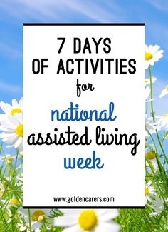 7 Days of Activities for National Assisted Living Week: National Assisted Living Week provides a unique opportunity to honour assisted living residents and educate others on this sector of long-term care. Assisted Living Activities, Nursing Home Activities, Elderly Activities, Dementia Activities, Senior Activities, Therapy Activities, Physical Activities, Exercise Activities, Montessori Activities