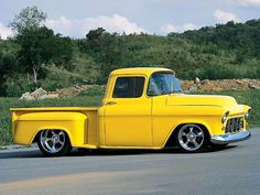 David Coomer& 1955 Chevy Stepside pickup truck is a case study on how to restore and modify a classic truck the right way. Find all the details and pictures inside Truckin& Magazine. Hot Rod Trucks, Big Rig Trucks, New Trucks, Cool Trucks, Custom Trucks, Custom Cars, 55 Chevy Truck, Classic Chevy Trucks, Classic Cars