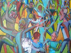 """""""Batalla de Tucumán """" ,acrilico sobre lienzo, 140 x 95 cm., 2015 . Cuadro en venta de la Serie Historia Argentina del artista plastico Diego Manuel"""