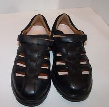 NEW IN BOX WOMEN DR COMFORT Black LEATHER DIABETIC SHOES 8 XW  BREEZE