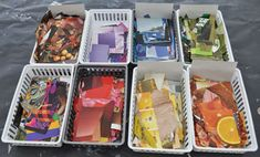 great for student helpers.cut and sort magazine clippings by their color for collage projects. High School Art, Middle School Art, Reggio, Art Classroom Management, Kindergarten, Magazine Collage, Preschool Art, Art Activities, Art Plastique