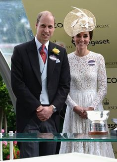 Prince William, Duke of Cambridge and Catherine, Duchess of Cambridge attends on day 2 of Royal Ascot at Ascot Racecourse on June 15, 2016 in Ascot, England.