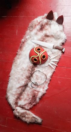 Check out this item in my Etsy shop https://www.etsy.com/listing/511437017/princess-mononoke-mask-fur-cape
