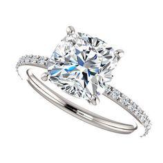eliza ring - 2.5 carat cushion cut moissanite engagement ring