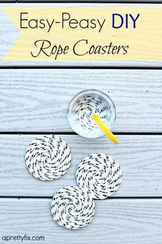 Easy-Peasy DIY Rope Coasters - Great for both indoor and outdoor use use.