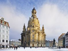 """Dresden, A Phoenix from the Ashes: The landmark Frauenkirche (""""church of our lady""""), a baroque masterpiece designed by George Bähr, was rebuilt from rubble in 2005 (above). Today it towers above a carefully reconstructed historic center that is home to half a dozen world-class museums—from the Albertinum and the Old Masters Picture Gallery, with its Vermeers and Titians, to the oddly named but unforgettable German Hygiene Museum."""