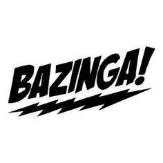 Bazinga Die Cut Vinyl Decal PV368