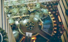 1980 interior view of Hyatt Regency Hotel, Dallas, Texas.