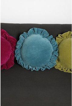 Velvet pillow.