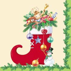 3595 Servilleta decorada Navidad