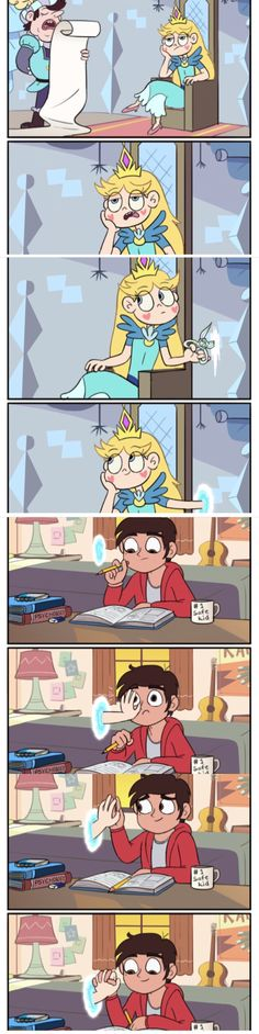Starco forever more! Disney Xd, Disney Memes, Disney And Dreamworks, Cute Comics, Funny Comics, Calin Couple, Star E Marco, Photo Manga, Star Butterfly