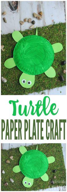 DIY Turtle Paper Plate Simplistically Living More