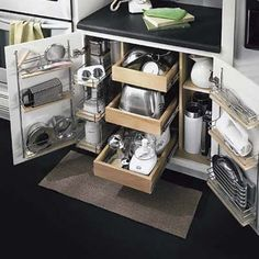 Accessible kitchen storage.
