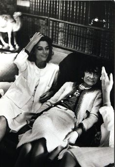 Coco Chanel and Anouk Aimée par Hatami                                                                                                                                                                                 More