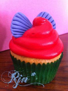 Ariel Cuppy - The Little Mermaid Ariel inspired cupcake!  Like & follow me @  http://www.facebook.com/mydelishlife