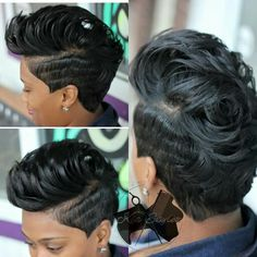 short hairstyle - black women Love Hair, Great Hair, Gorgeous Hair, Short Sassy Hair, Short Hair Cuts, Short Hair Styles, Short Black Hairstyles, Girl Hairstyles, Mixed Hairstyles