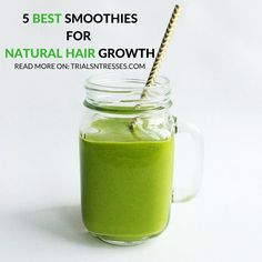 5 Best Smoothies To Help With Natural Hair Growth - Trials N Tresses