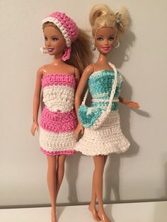 Vestidinhos crochê Barbie #crochetandosonhos