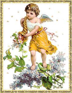Ангелочек с рогом изобилия