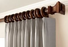 Decorative Traverse Rods ~ The Latest in Great Window Fashion by eliminating the unattractive plain white curtain rods of the past.